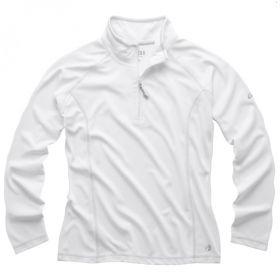 Женская футболка с длинными рукавами и воротником на молнии UV003W_UV